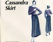 Clothing Designs by La Fred 101 Cassandra Skirt Sewing Pattern Wrap Front Fish Tail Shaped Hem Size 6 - 26 Uncut Sewing Pattern