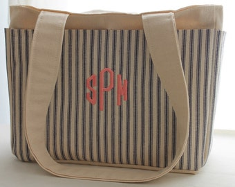 Personalized Organizer Tote Bag by Watermelon Wishes
