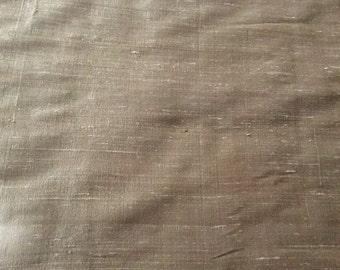 Beautiful Taupe Color Dupioni Silk Fabric - 4 1/2 yards