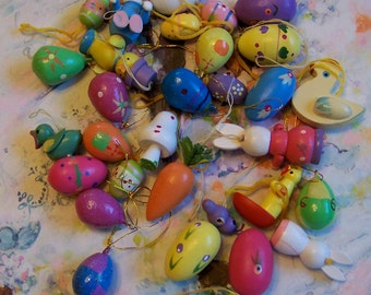 adorable bunch of tiny easter ornaments
