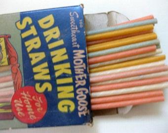 Vintage Fun, Drinking Straws, Sweetheart Straws, Mother Goose