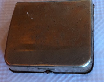 ANTIQUE CIGARETTE ROLLER, Vintage French smoke accessory, silver, canvas, pocket size