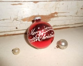 Vintage Shiny Brite Merry Christmas Ornament