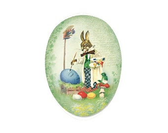 Made In Germany Papier Paper Mache Easter Egg Box  3.5 Inch  #517 P
