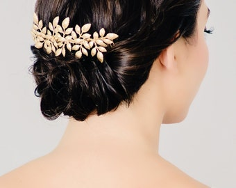 Gold Leaf Bridal Hair Comb