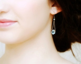 Something Blue Aquamarine Bridal Earrings