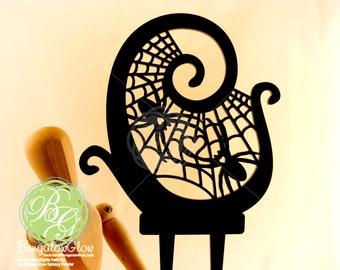 Spider Web Love Cake Topper, Spiders, Heart, Web *ORIGINAL DESIGN*