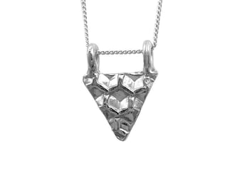 Honeycomb Necklace Triangle Small