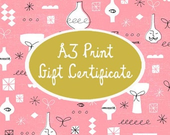 A3 Print Gift Certificate
