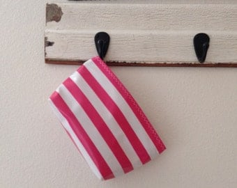 Beth's Small Available in Multiple Colors Stripes Oilcloth Cosmetic Bag