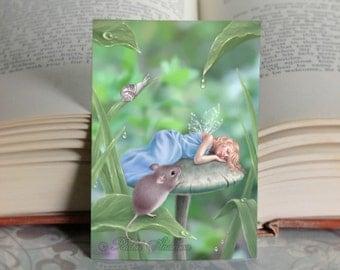 ACEO Sweet Dreams Sleeping Fairy Limited Edition Mini Print
