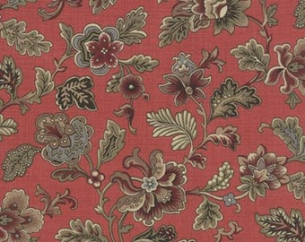 Moda Le Marais French General 13550 21 French Rouge Vintage Floral by the yard