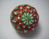 Mini hand made Temari(red,green)