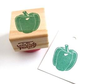 Pepper Stamp, Hand Carved Vegetable Stamp