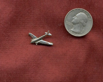 RARE 1950 TWA Airlines Douglas DC 3 Airplane Flight Attendent Metal Service Pin