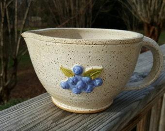 Blueberry Batter Bowl - Mixing Bowl - Sauce Bowl - Serving Bowl