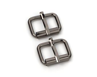 "30pcs - 1/2"" Roller Pin Belt Buckles - Black Nickel - Free Shipping (ROLLER BUCKLE RBK-103)"