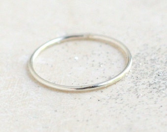stacking ring. SILVER band. ONE minimalist stack ring. dainty sterling silver ring. knuckle ring. silver midi ring. minimalist jewelry