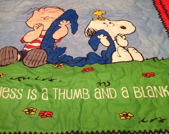 Linus and Snoopy Quilt