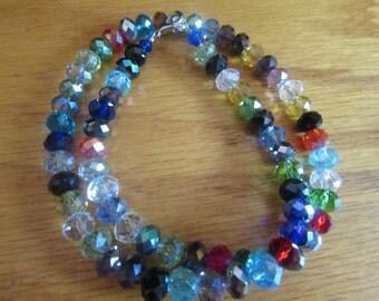 Rainbow beads (glass)