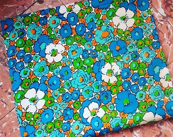 1970s Floral Cotton  Fabric
