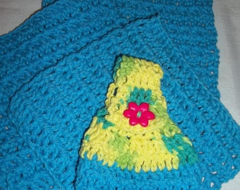 Hanging Dishcloth with Set of 3 Dishcloths