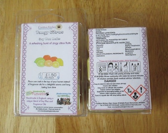 Tangy Citrus Scented Soy Wax Melts Pack