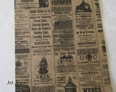 Newspaper Bags, Newsprint Bags, News Print, Vintage Style Bags, Rustic Wedding, Gift Bags, Party Favor Bags, Victorian Bags 8.5x11 Pack 50