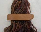 Tiny Wood Hair Clip, Red Elm Burl, lifetime guarantee, NO GLUE, wooden hair accessory, french hair barrette, natural long hair, wearable art