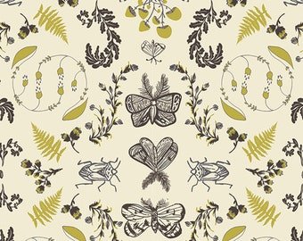 Forest Floor - Nature Study in Bark by Bonnie Christine for Art Gallery Fabrics - Voile Fabric