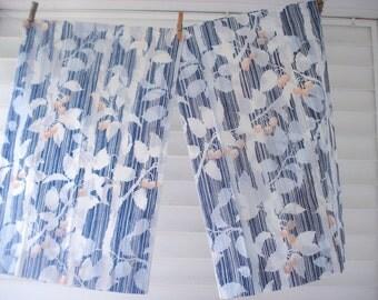 Floral stripe pillowcase - never used vintage
