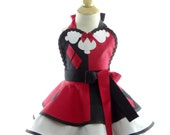 Children's Harlequin costume Apron - for kids - Cute Girls Sweet Villian Costume Apron for Dress Up & Play
