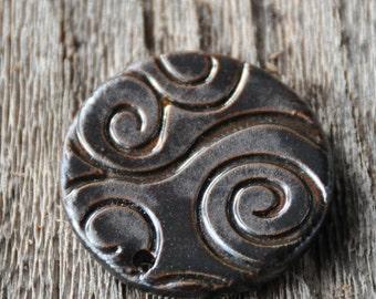 Essential Oil Diffuser Pendant Bead for Aromatherapy in Black Adventure