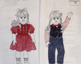 """Doll Clothes Panels, Simplicity for Today's Girl, Country Girl and Victorian Girl, 18"""" dolls"""