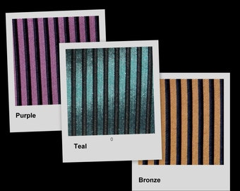 Purple Black Pin-Stripe Acetate Brocade Fabric BTY ~ avail in 4 colors