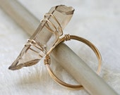 Crystal Ring, Crystal Point Ring, Wire Wrapped Ring, Crystal Jewelry, Crystal Point Jewelry , Quartz Crystal Jewelry, Raw Crystal Ring