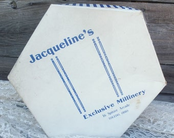 Vintage Hat Box, Jacqueline's Exclusive Millinery, Ladies Hat Box, Hat Box, Storage Box, Millinery
