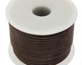 2 Meters (6.56 Feet Approx.) Genuine Leather Cord - Round - Light Brown 1.5mm (2992101)
