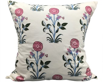 Indian Block Print Euro Pillow | ELIZABETH 26x26