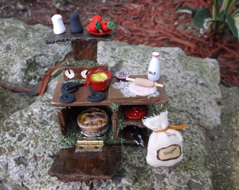 Fairy Stove With Accessories Custom Order