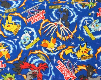 "Pokemon licensed fabric 50 cm by 53  cm or 19.6"" by 21 "" ©nintendo ©pokemon"
