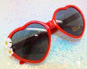 Lolita style heart sunglasses - Vintage Flower Sunnies