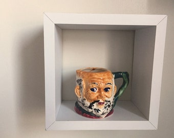 Toby mug-style creamer. Made in Occupied Japan.