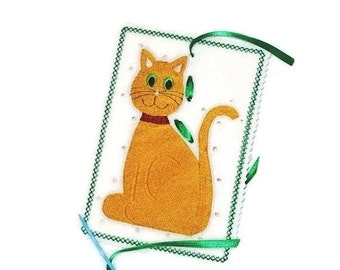 KITTY SEWING CARD #3873