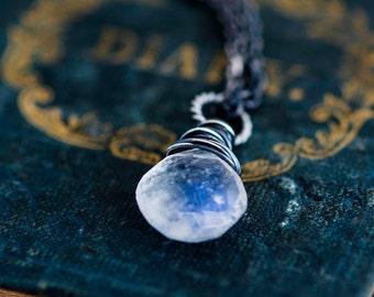 Moonstone Necklace, Moonstone Jewelry, Pendant necklace, Gemstone Pendant,  Moon Necklace, perfect gift
