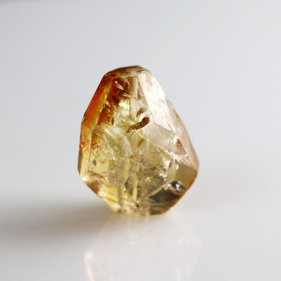 citrine nugget bead faceted focal citrine 24mm