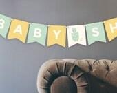 Printable Owl Baby Banner   Gender Neutral   Digital File   Baby Shower Decoration