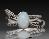 Special Order for A. - Cuttlefish Opal Ring - Triple Band Oval