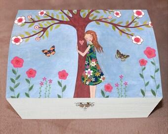 Jewelry Box, Girl'sTrinket Box, Girl Gift Box