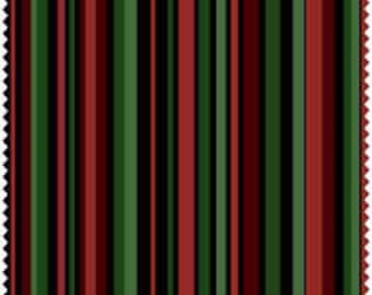 Christmas Napkins. Set of 4 Napkins. Red,Green, and Black Stripes Napkins.XL Napkins. Holiday Napkins.  Hostess Gift.